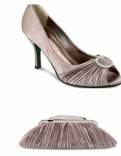 Champagne Sienna Shoes and Bag