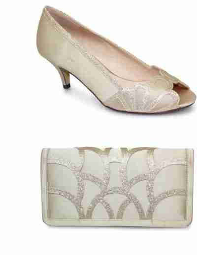 Dalia gold shoes and bag