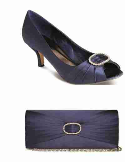 Navy Rochelle shoes and bag
