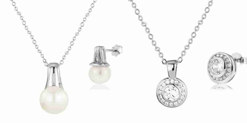Wedding Pearl and Crystal Jewellery sets for Mother of the Bride Groom Bridesmaids Gifts