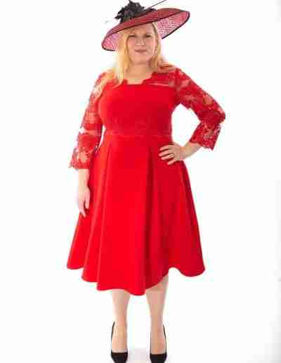 Red Plus Size A Line Dress Custom Made wedding Outfits