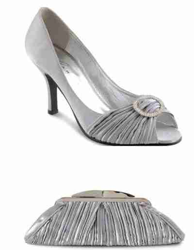 Silver Sienna Shoes and Bag
