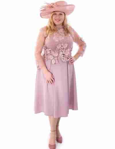 Valentine Frosted Pink Plus Size Wedding Outfit