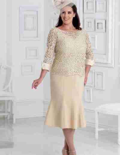 Champagne Plus Size Wedding Outfits