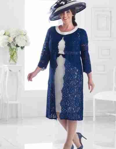 Navy Plus Size Mother of the Bride Dresses
