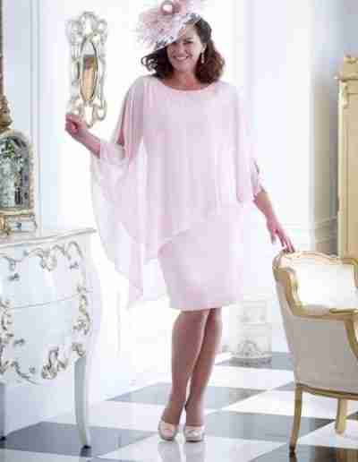 Baby Pink Plus Size Wedding Outfits