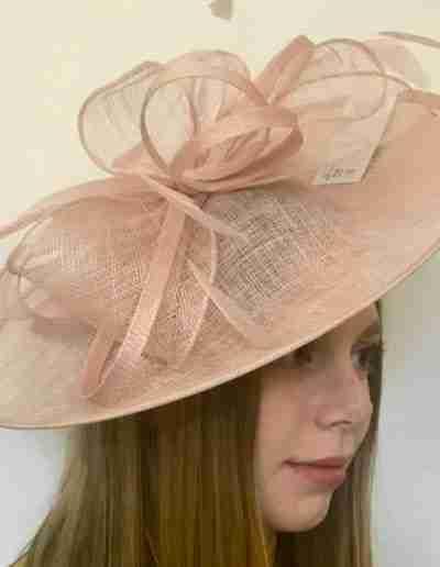 Soft Pink Wedding Hat
