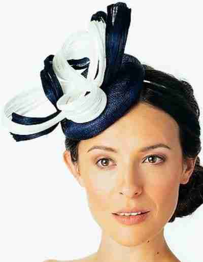 Navy and White Wedding Hatinator