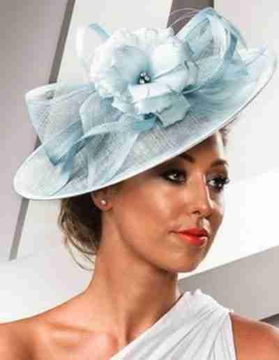Baby Blue Wedding Hat