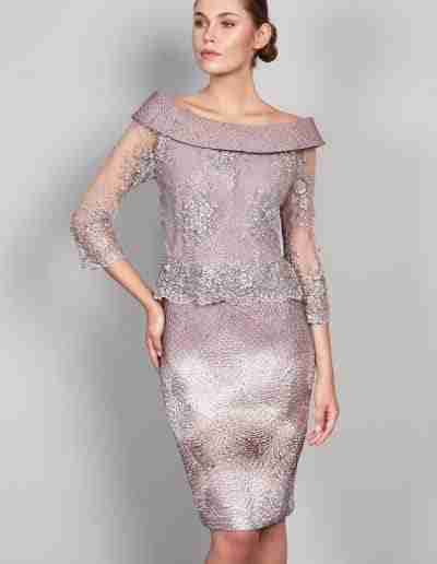 Lizabella mauve dress