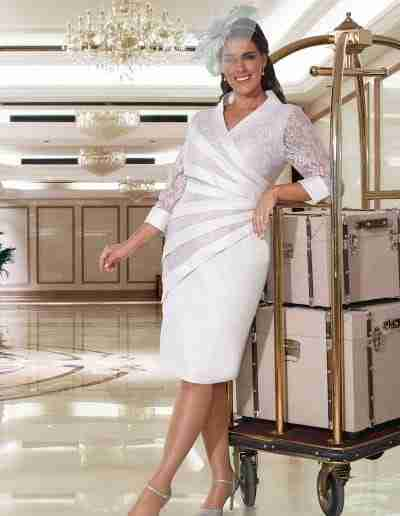 Veromia plus size silver dress with sleeve