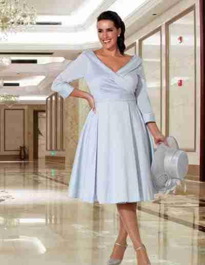 Veromia Plus Size pale blue A line 50s style dress