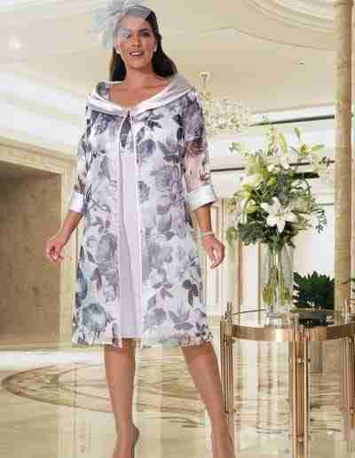 Veromia slate grey silver plus size dress and coat.jpg