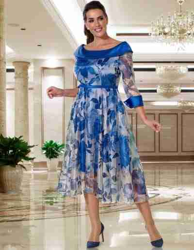 Blue Plus Size Mother of the Bride Outfit