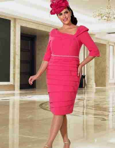Veromia Plus Size Hot Pink dress with sleeves