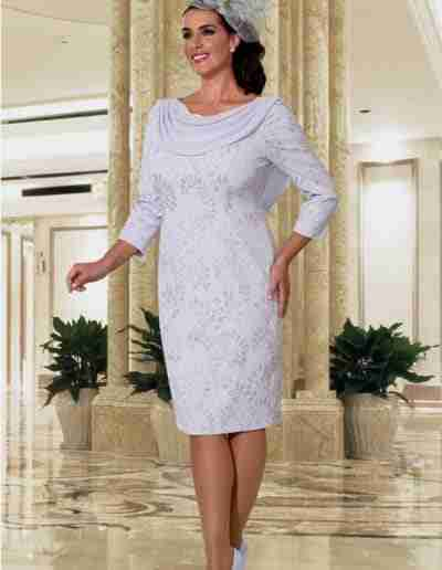 Veromia Plus Size ice blue stretchy dress with sleeve