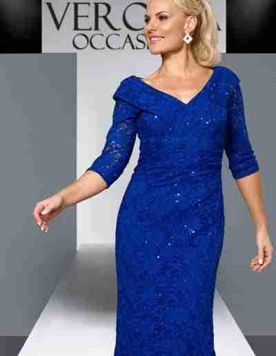 Veromia Occasions cobalt blue sparkle dress
