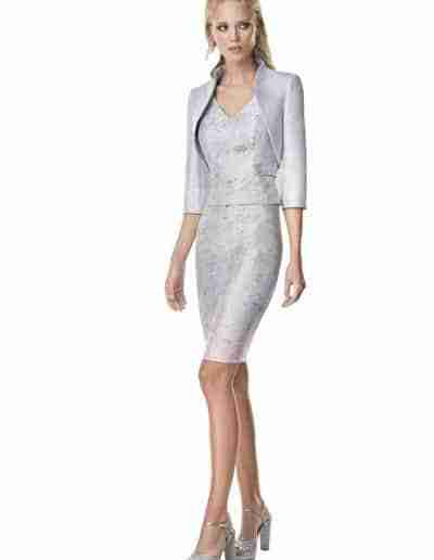 sonia pena mother of the bride grey dress and jacket