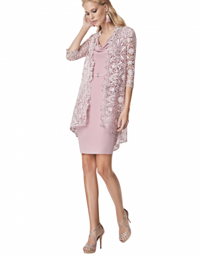sonia pena mother of the bride outfit pink dress and jacket
