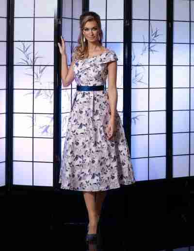 veromia Occassions Pink and Navy Dress