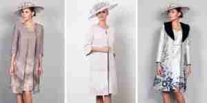 Winter dress and coat for mother of the bride and groom