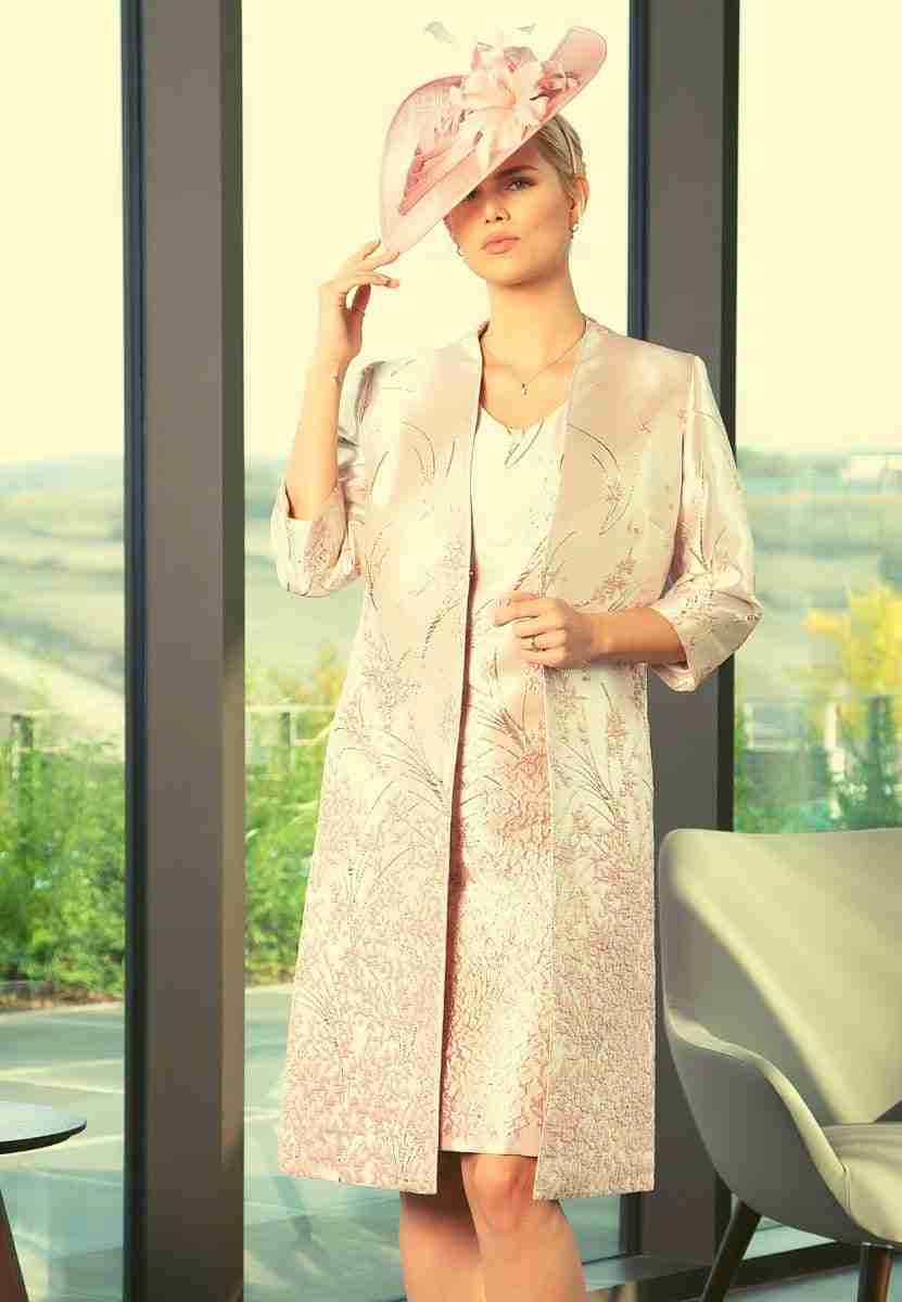 Lizabella Blush Pink Mother of the Bride Dress and Coat