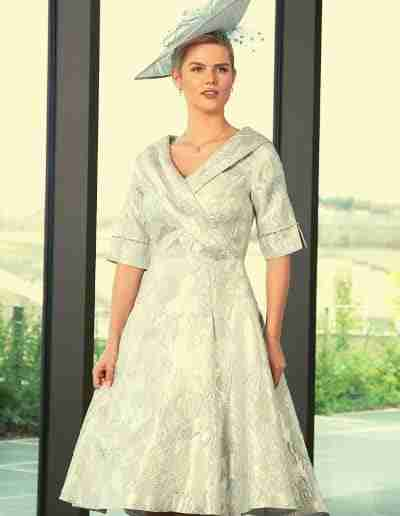 Lizabella Ice Blue Pastel A Line 50s style mother of the bride dress