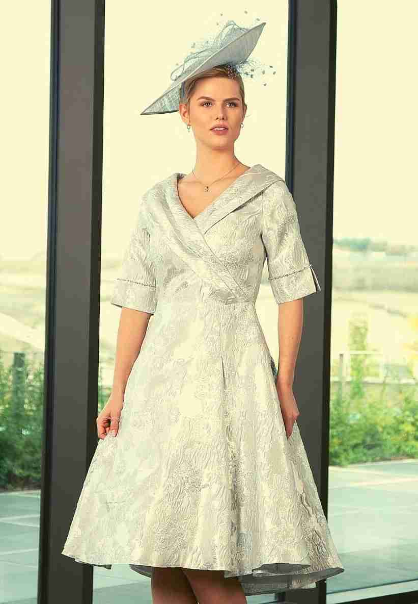 Lizabella Ice Blue Pastel 50s Style Mother of the Bride Dress