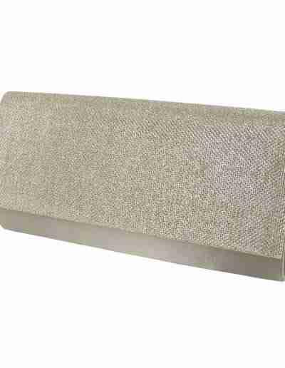 Silver sparkle clutch bag