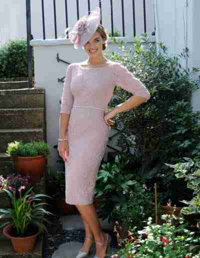 Pink fitted dress for mother of the bride and groom