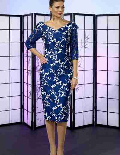 Royal blue fitted dress for wedding guest or ladies day